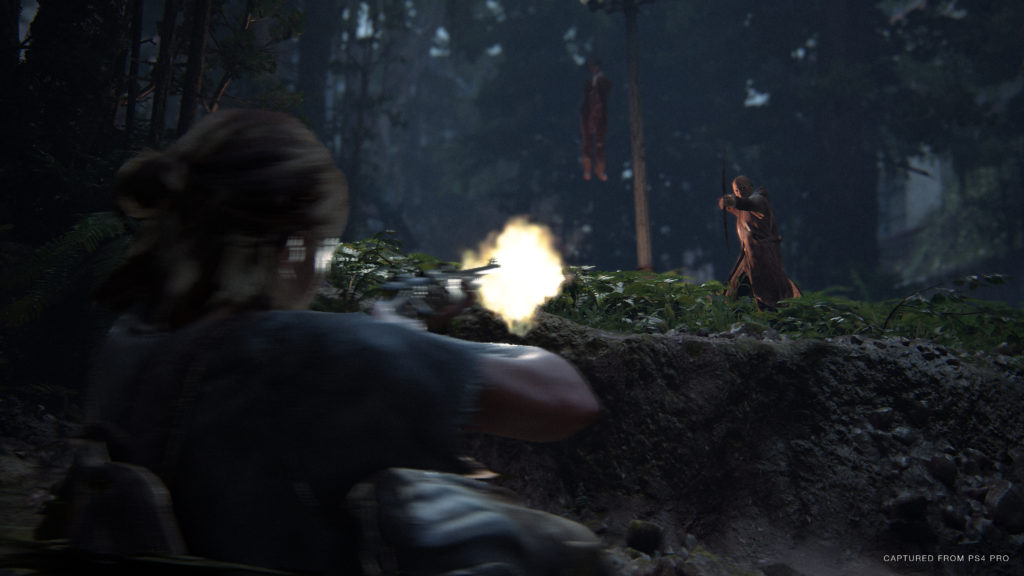 A Scar gets shot by Ellie - TLOU2