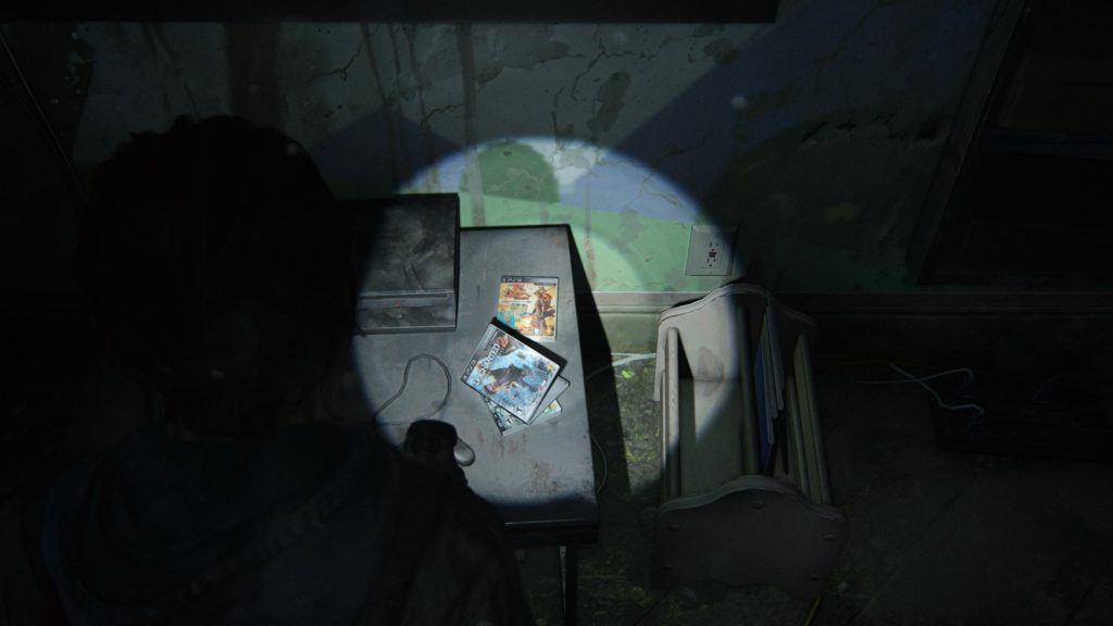 Abandoned copies of Naughty Dog Games in TLOU2