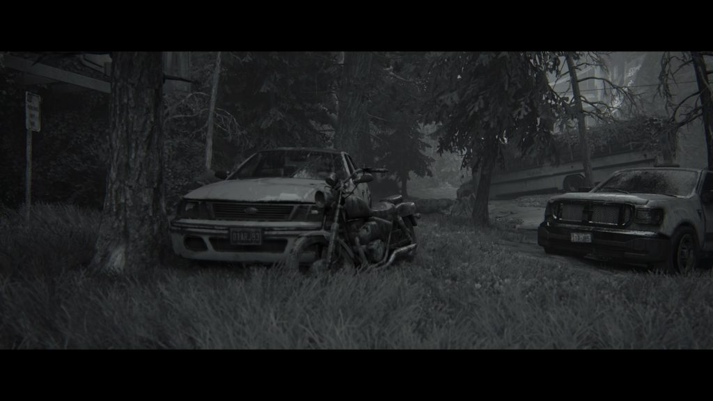 A very arty black and white shot of a motorbike. Good job Luke.