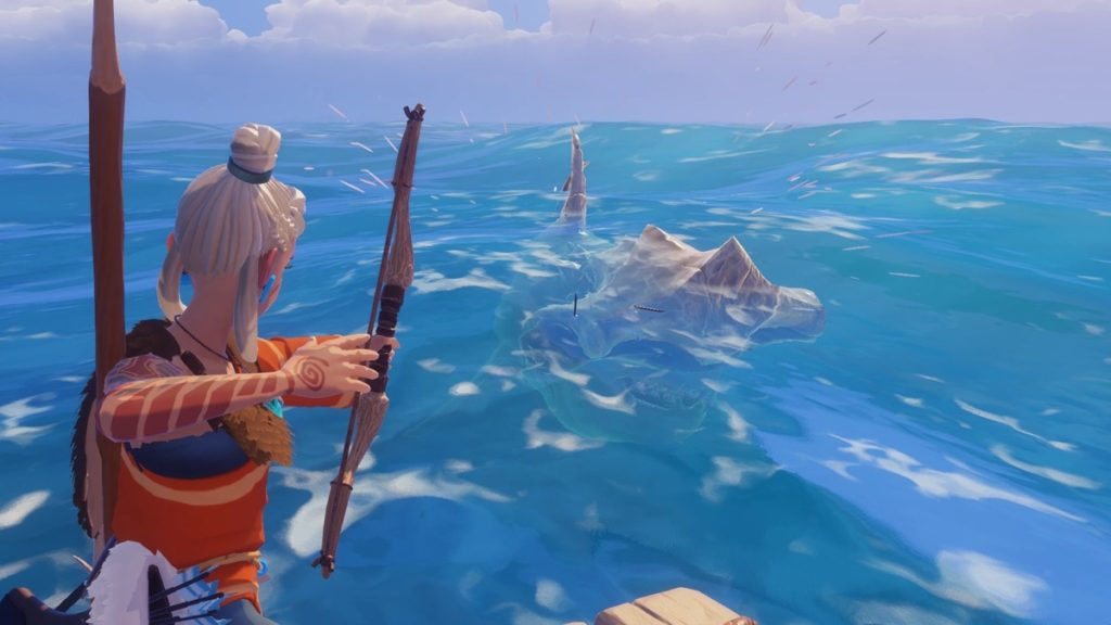 A sea monster attacks