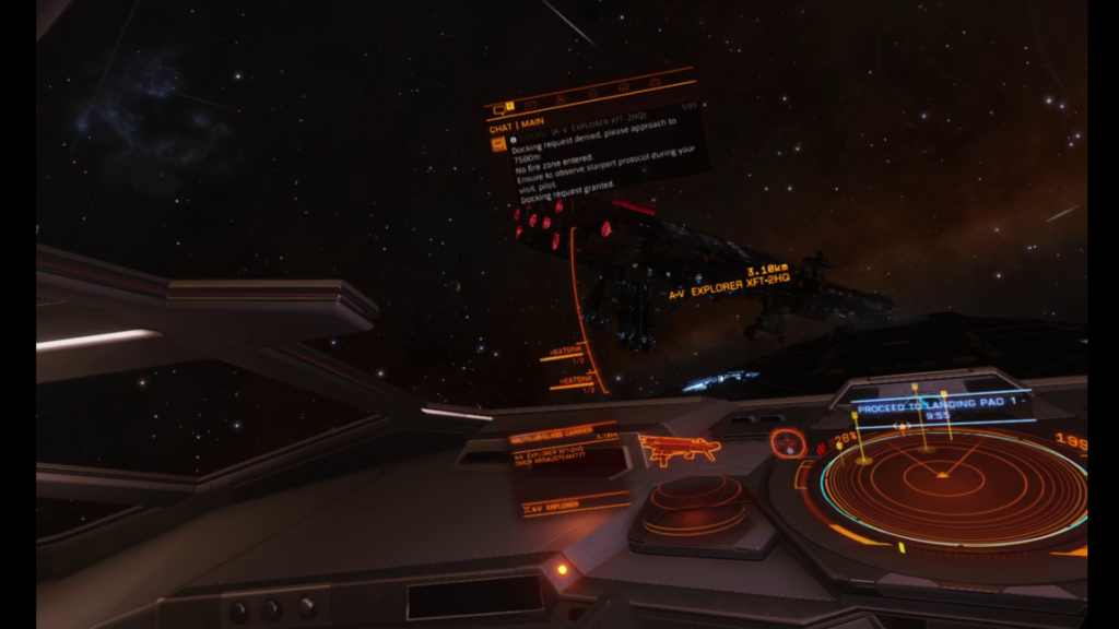 A player owned capital ship in Elite Dangerous
